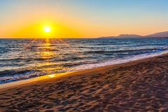 Beach on Ada Bojana, Ulcinj, Montenegro royalty free stock images