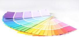 Bright Colorful Paint Swatch Samples for Remodelin Royalty Free Stock Photo