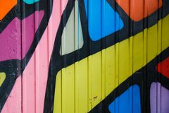 Bright colorful painted wall background stock image