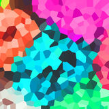 Bright colorful pattern. Mosaic of geometric shapes. Colored polygons. Abstract background Royalty Free Stock Image