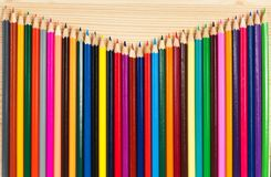 Bright colorful pencils royalty free stock photo
