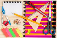 Bright colorful pencils royalty free stock image