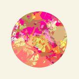 Artistic paint splashes circle. Bright colorful pink and red artistic paint splashes in a circle royalty free illustration