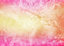 Bright colorful pink yellow grunge cement wall Royalty Free Stock Images