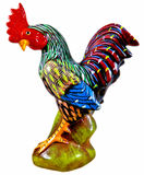 Porcelain rooster. Bright and colorful porcelain rooster Stock Photos