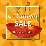 Poster for the autumn sale Royalty Free Stock Photo