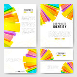 Bright colorful rays Identity-1 Royalty Free Stock Images