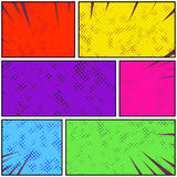 Bright colorful retro style pop art comic page strip. Abstract d vector illustration