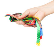 Bright colorful ribbons Stock Image