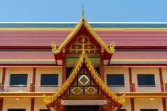 Colorful Roof Of Thai Temple royalty free stock images