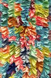 Bright Colorful Ruffled Fabric Background Royalty Free Stock Image