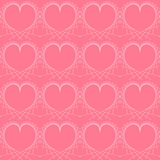 Bright colorful seamless hearts vector background. Royalty Free Stock Photo