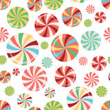 Bright colorful seamless pattern with sweet candy lollipops. Stock Photos