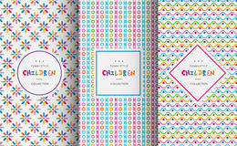 Bright colorful seamless patterns for baby style Royalty Free Stock Photography