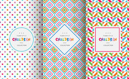 Bright colorful seamless patterns for baby style Stock Photography