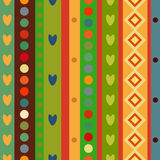 Bright Colorful seamless stripes pattern. Royalty Free Stock Photos