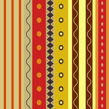 Bright Colorful seamless stripes pattern. Stock Image