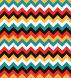Bright colorful seamless zig zag pattern. Abstract chevron background Stock Images