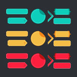 Bright colorful set of stitched labels Stock Photos