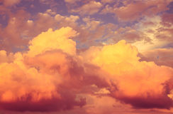 Bright colorful sky as a background Royalty Free Stock Photography
