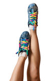 Bright colorful sneakers isolated on white Royalty Free Stock Image