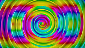 Bright colorful spiral shape abstract 3D render stock illustration