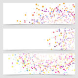 Bright colorful splatter dot pattern card Royalty Free Stock Photos
