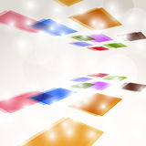 Bright colorful square fly background Stock Photo