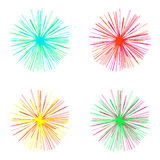 Bright colorful stars on a white background. Festive design element for decoration Stock Photo