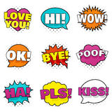 Bright colorful stickers Royalty Free Stock Images