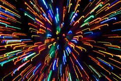 Bright, Colorful Streaks of Christmas Lights Stock Photography