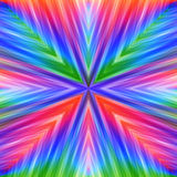 Bright Colorful Striped Angular Background. Motley Texture of Symmetric Intersecting Lines from Center Stock Images