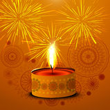 Bright colorful stylish creative diwali diya  Stock Photography