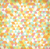 Bright colorful summer abstract background made of triangle elements with spots. Pink, yellow, blue and white colors royalty free illustration