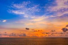 Beautiful sunset from Uluwatu Temple, Bali, Indonesia. Stock Photos