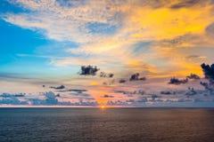 Beautiful sunset from Uluwatu Temple, Bali, Indonesia. Stock Photography