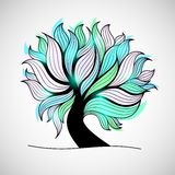 Bright colorful tree with branches and leaves Royalty Free Stock Photos