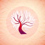 Bright colorful tree from paper, retro style Stock Photography