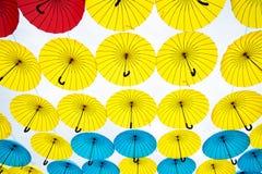 Bright colorful umbrelas  background Stock Photo