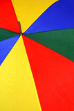Bright colorful umbrella. Very bright and colorful closeup of an umbrella Stock Photography