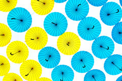 Bright colorful umbrellas background Royalty Free Stock Photos