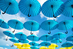 Bright colorful umbrellas background Royalty Free Stock Image