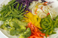 Bright Colorful Uncooked Vegetarian Ingredients of Chop Suey Stock Photo