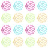 Bright and colorful vector seamless pattern of hand drawn circles. Bright and colorful vector abstract seamless pattern of hand drawn circles royalty free illustration