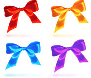 Bright colorful vector bows set Royalty Free Stock Images