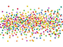 Bright colorful vector confetti background Stock Photo