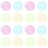 Bright and colorful vector seamless pattern of hand drawn circles. Bright and colorful vector abstract seamless pattern of hand drawn circles vector illustration