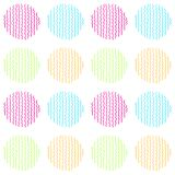 Bright and colorful vector seamless pattern of hand drawn circles. Bright and colorful vector abstract seamless pattern of hand drawn circles stock illustration