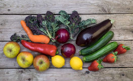 Bright, colorful vegetables and fruit, Royalty Free Stock Photos
