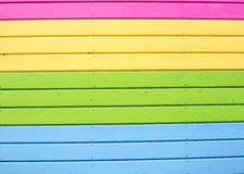Bright colorful wall of multicolored boards. Royalty Free Stock Images